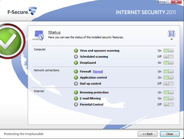 Скачать бесплатно - F-Secure Internet Security 2011 10.51 build 106 Final В