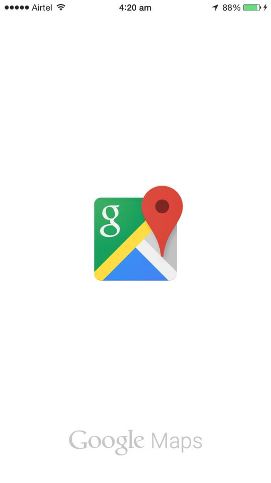 Google maps iphone 6